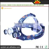 Multipurpose RJ-5000 XM-L2 Led Headlamp 1800Lm 4 Mode Ultra Brigh Rechargeable Led Headlamp