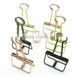 butterfly empty wire holder folder binder clips with strong strength in golden and rose copper