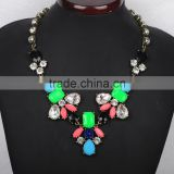 Simple women multicolor resin chain link necklace