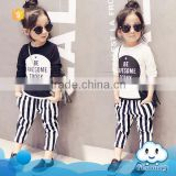 Girls fashion boutique outft cloting set 2016 fancy kids clothing photo designer baby clothes gift set