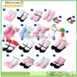 18 designs are in stocked, socks ; 3D carton socks for lovely baby , Newborn Baby Kids Girl Anti-slip Lace Floral Socks