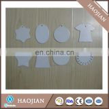 sublimation printable white ceramic ornaments