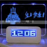 Led memo board alarm clock