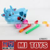 Push and pull plastic cow toy 2015 newest item