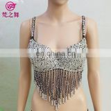 Indian handmade performance beaded tassel sexy belly dance bra