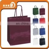 shopping glossy high quality custom gift paper bag