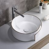 2018 ceramic new design special table mounted wash hand basin