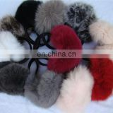 real fox fur earmuff