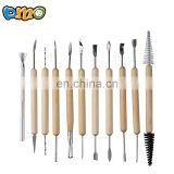 11 Pcs Wooden Handle Clay Pottery Sculpting Tools