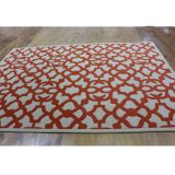 Chic Wool White&Red Rug, Red Carpet For Sale