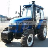 Cheap China new 110HP Farm Tractor with log crane trialer