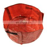 Reinforced Orange Round PE Breathing Fabric Pot Planting