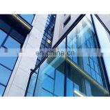 Glass factory 6mm blue reflective building glass