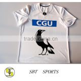 White Custom New designs Dyed full sublimation yonex badminton jersey sports wear t shirts sport