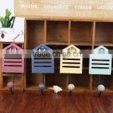 House style hook set(4pcs) fashionable and unique design Modern Wood hooks and Hanger for decoration of house and hanging cloth