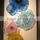 Murano Glass Wall Art Blown Glass Flowers
