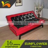 Latest Design Black& Red Leather Office Chair / Folding Sofa Bed