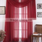 Hot Selling Factory 100%Polyester Cheap 3pcs Voile Sheer Soild Window Curtain Panel With Scarf
