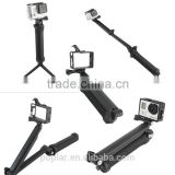 3-Way Multi Function Extendable Monopod Tripod Folding Rotating Arm Camera Handle for Gopros Hero4 / 3+ / 3, SJ4000 / SJ6000