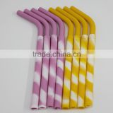 New Reusable Silicone Juice Straw for Children