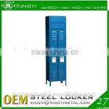High quality gym metal 1 single door locker ,custom storage clothing wardrobe locker, steel office and school locker cabinet
