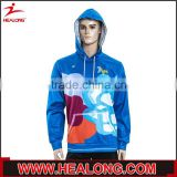 Best selling organic 100 polyester smooth comfortable oversize sublimation pullover hoodie