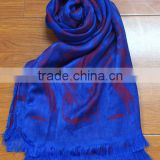 High quality fashionable silk imitation long scarf shawl hijab digital print custom design silk scarf