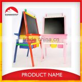 kids wooden art easel with storage box