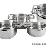 China products kitchen utensil steamer stainless steel pots and pans induction cooker