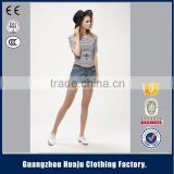 Factory Manufacturer Ladies Summer Fashion Denim Overalls Jeans