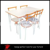 Wood and Metal Dining Set 5 Pcs table kitchen chair dinner meal diner seats home