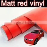 Matt red car color change film with air free bubbles, bubble free matt red vinyl sticker