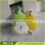 3d custom soft pvc cute fruit shaped rubber eraser for pen china wholesale