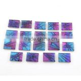 Dichroic glass wholesale gemstones for jewelry making rectangle glass
