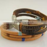 friendship charm leather bracelet for boy and girl