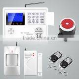 PSTN/GSM support alert call&SMS and 150 accessories wirelss security alarm system