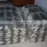 Natural chinchilla rabbit skin fur plate