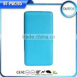 China Market of Electronic Leather Powerful Power Bank External Battery Pack USB Charger