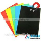 China factory directly Flexible rubber magnetic sheet with Color PVC Film A3 A4 A5