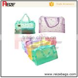 Hot Floral Print Transparent Waterproof Makeup Make up Cosmetic Bag Toiletry Bathing Pouch