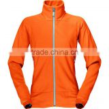 Orange branded fleece trekking jacket