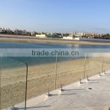 "china factory tailor made 1/2"" tempered glass for frameless glass pool fencing"