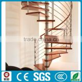 Save space steel wood Circle/spiral/curve stairs design price
