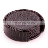 (hotel) leather coasters / multifunctional cup /PU/PVC cup set