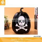 Print Black Human Skeleton Decorative Thanksgiving Carved Resin Pumpkin