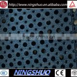 China factory of anti slip and anti fatigue black rubber drainage mat for boat