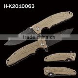 Outdoor folding knife with G10 handles belt clip