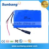 DC connector 22.2V 2200mah 18650 lithium-ion battery for Heat pad