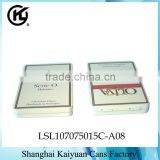 High Quality Rectangular Gift Cigar Cigarette Tin Can Box (hinged lid and various printings)