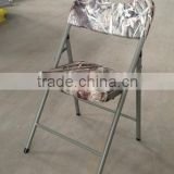2015 New design stamping plastic folding chair
